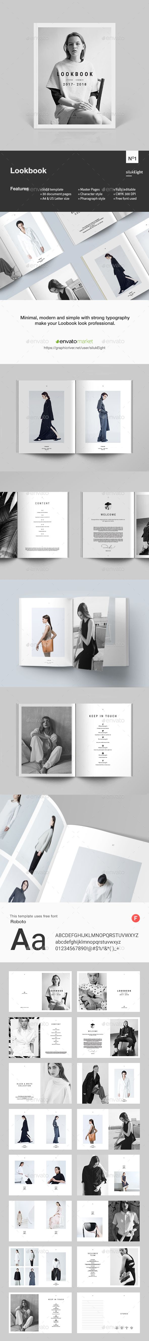 Lookbook — InDesign INDD #portfolio #clothing • Download ➝ https://graphicriver.net/item/lookbook/19527313?ref=pxcr