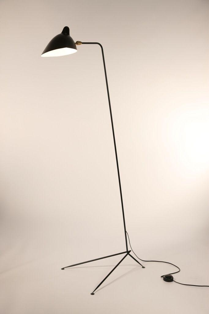 serge mouille lampadaire droit l i g h t i n g pinterest. Black Bedroom Furniture Sets. Home Design Ideas