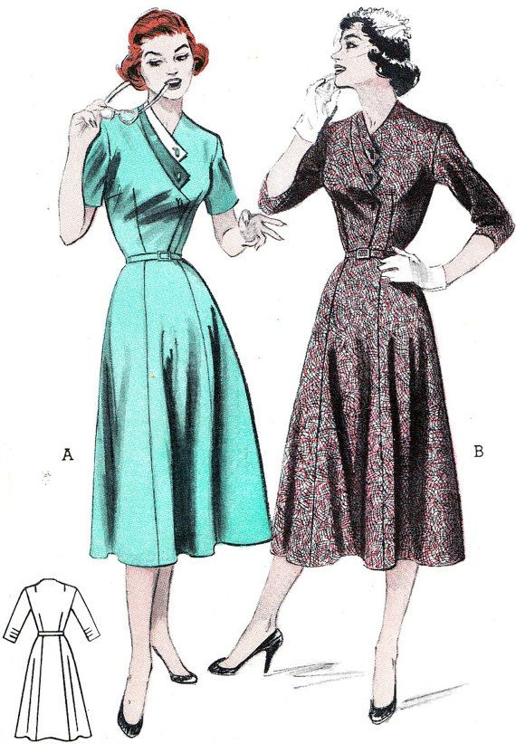 Vintage Sewing Pattern 1950s Butterick 6866 by paneenjerez on Etsy, $20.00