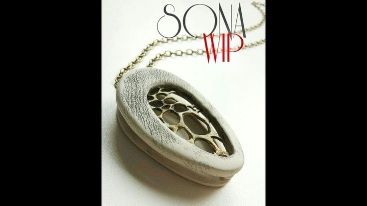 Polymer Clay Tutorial ''Embroidery''+''Double Pendant''  2 in 1 - note link to patterns below.