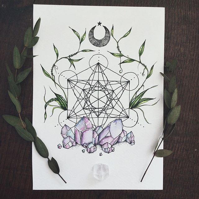 Metatron's cube tattoo commission ♥︎ commissions are open again so get in touch  via my etsy if you'd like one!