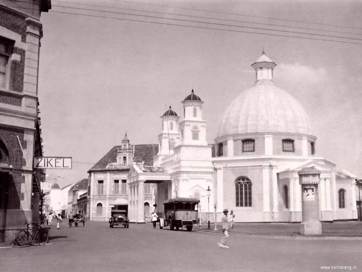 Indonesia, the city of Semarang, capital of the province of Central Java ~ Semarang in the old days - Kota Lama