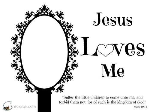 Jesus Loves Me Tape Foil On For The Mirror Or Have The