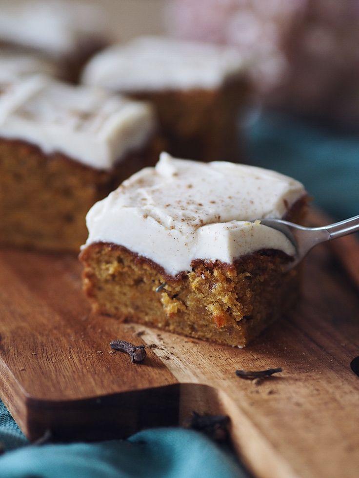 Rezept: Kürbiskuchen mit Zimtfrischkäse | Marry Kotter