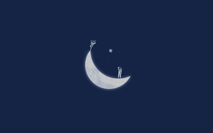 космонавт, месяц, скейт, космос, луна