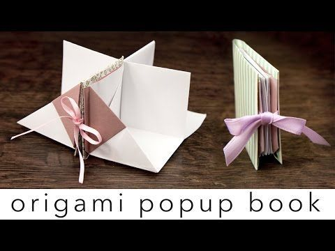 Origami Popup Book Video Tutorial - Paper Kawaii