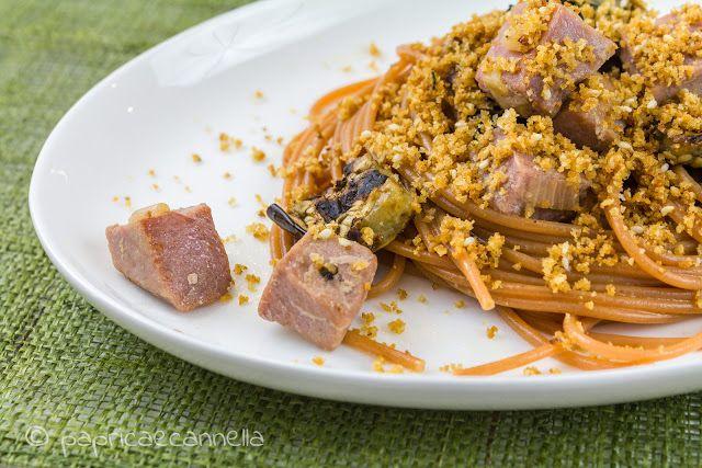 paprica e cannella BLOG: Spaghetti, tonno fresco e melanzane grigliate