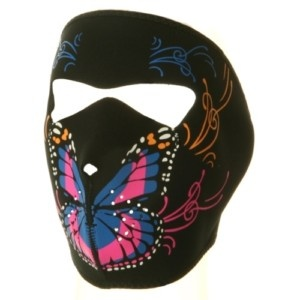 butterfly or mouth on mouth photography | ... Motorcycle Biker Neoprene Face Mask Ladies Butterfly Mouth | eBay
