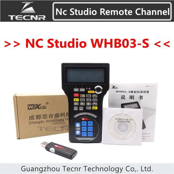 New nc studio remote channel 3 axis cnc controller for cnc router WHB03 / WHB03-S
