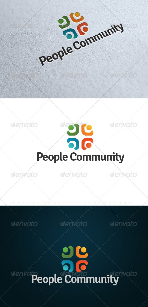 People Community Logo for sale just 29$
