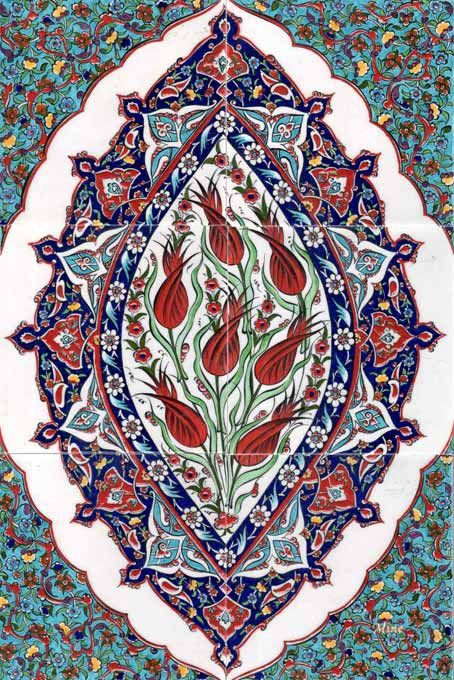 Ottoman Traditional Turkish Tiles Art Osmanlı Çini Karo Panoları Turkey 40-60