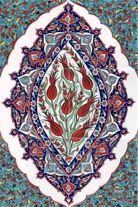 Ottoman Traditional Turkish Tiles Art Osmanlı Çini Karo Panoları  Turkey    40-60