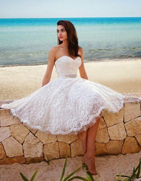Asombrosos Vestidos cortos de novia