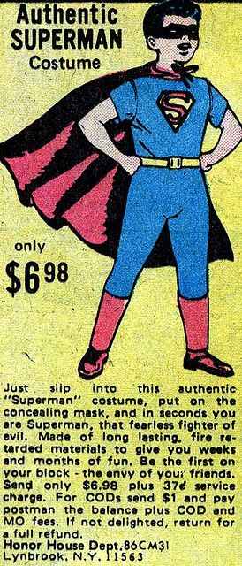 "Superman Costume by Todd Franklin    	Via Flickr: 	I'm not sure about saying this is ""authentic"".  When did Superman ever wear a mask?  Maybe he's the Super Lone Ranger!  Faster than a speeding silver bullet!"