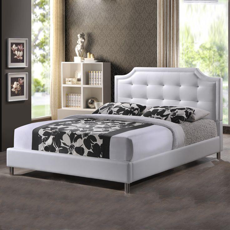 dimora bedroom set%0A Baxton Studio BBT     Carlotta Modern Bed with Upholstered Headboard   ATG  Stores