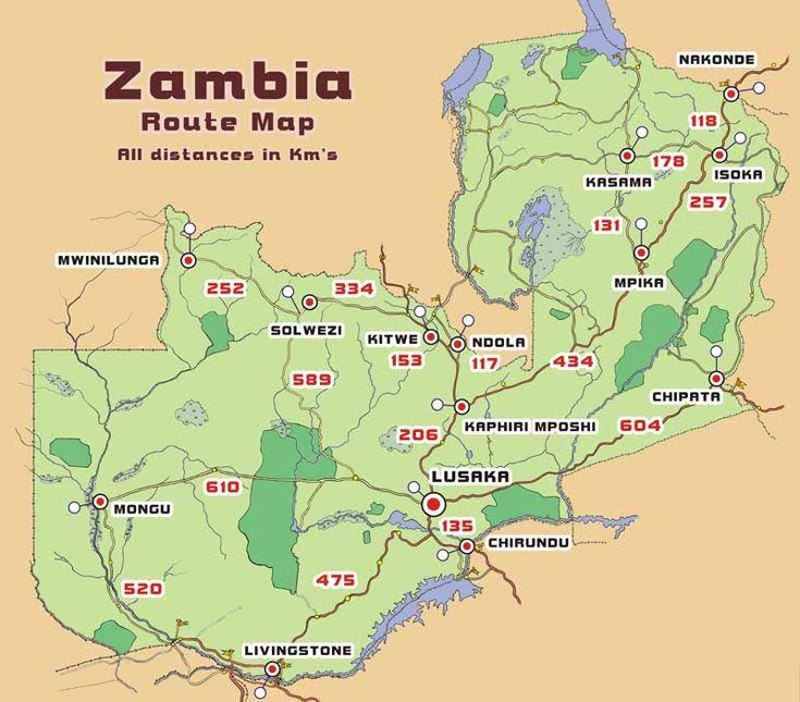 Best Zambia Images On Pinterest Beautiful Places City - Zambia map