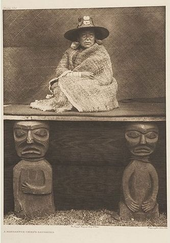 A Nakoaktok Chief's Daughter Photogravure by Edward Curtis, via Flickr.
