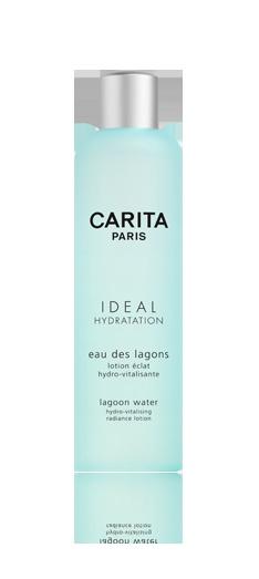 Eau des lagons. Lotion éclat hydro-vitalisante. SON SECRET : lotion de soin à la fraîcheur tonifiante, l'eau des lagons élimine toutes traces d'impuretés du visage et désaltère la peau, lui offrant souplesse, confort et vitalité. SES ACTIONS & BIENFAITS : un extrait de papaye affine le grain de peau, révélant un teint net et lumineux. La peau est immédiatement hydratée.