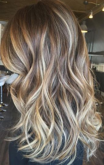 Blonde bayalage hair color trends for medium hairstyles 2017