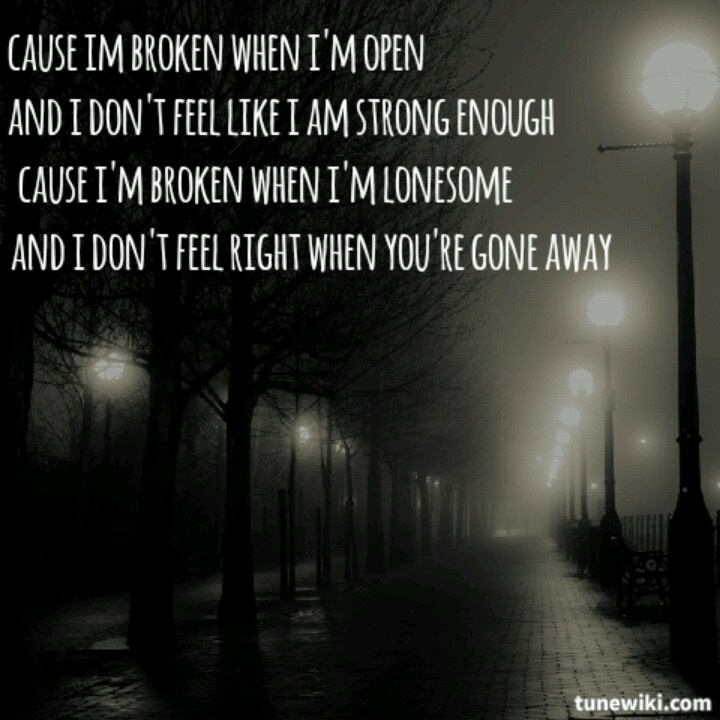 Broken-Seether feat. Amy Lee<3 always loved this song, still do..but different reasons this time