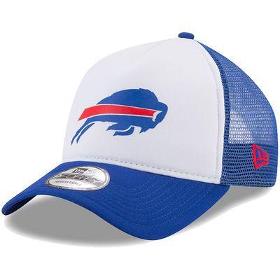 Buffalo Bills New Era Trucker Hit 9FORTY Adjustable Hat - White/Royal