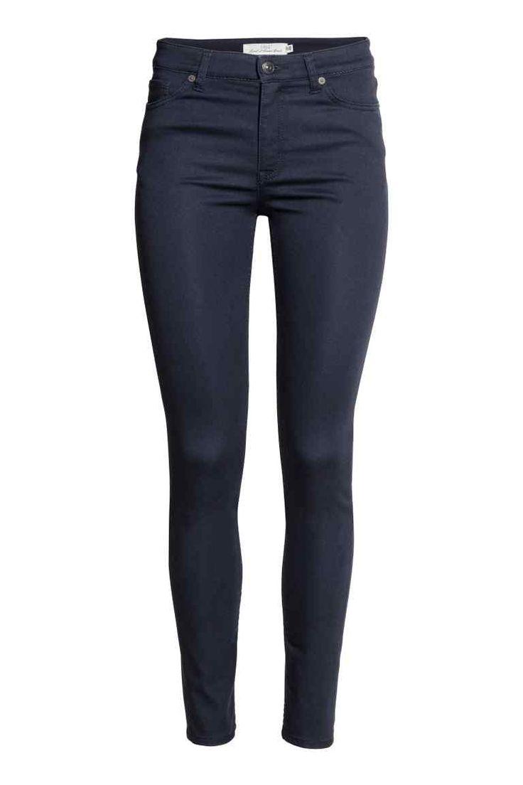 Mimoriadne pružné nohavice - tmavomodrá - ŽENY | H&M SK