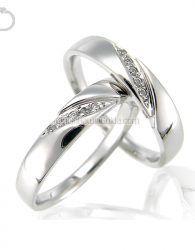 Cincin Kawin Emas Putih + Perak Murah - GD41089 cincin kawin murah