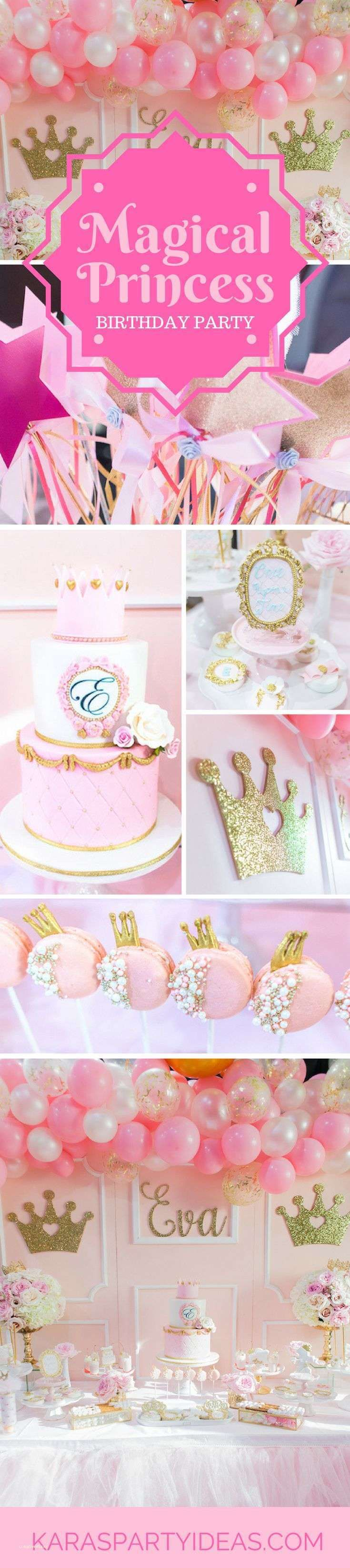 2nd Birthday Princess Party Ideas - Unique 2nd Birthday Princess Party Ideas, First Birthday Princess Pink and Gold Cake