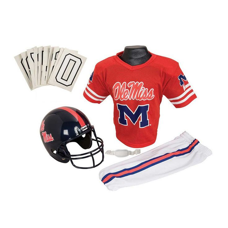 Franklin Ncaa Ole Miss Rebels Deluxe Football Uniform Set - Boys, Size: Medium, Multicolor