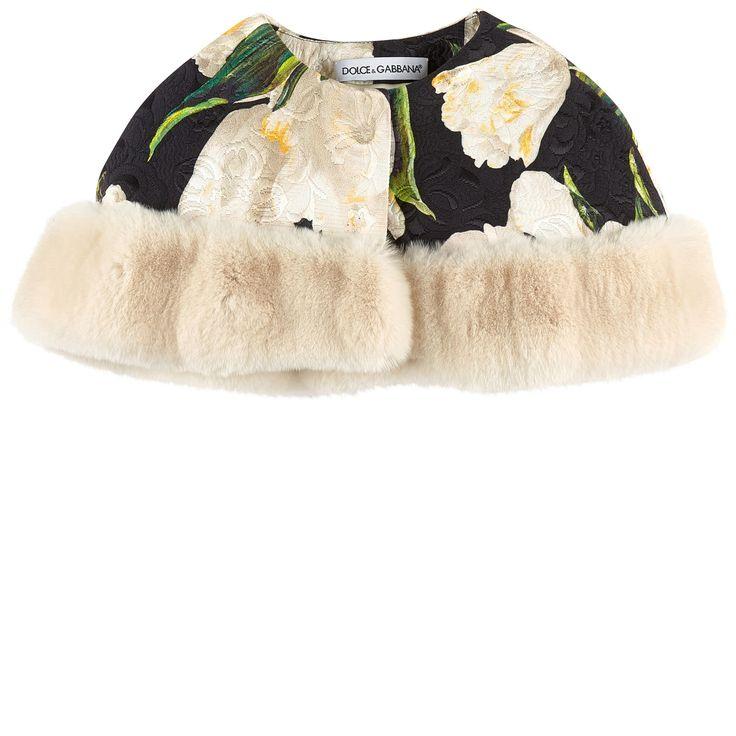 Cotton and silk brocade Silk lining Rabbit fur Warm item Short cut Snap buttons Flower print Signature print Random patterns for each item - $ 845