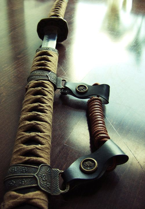 Katana. NO I won't wear this. But somehow it seems right to be near...maybe in my house.