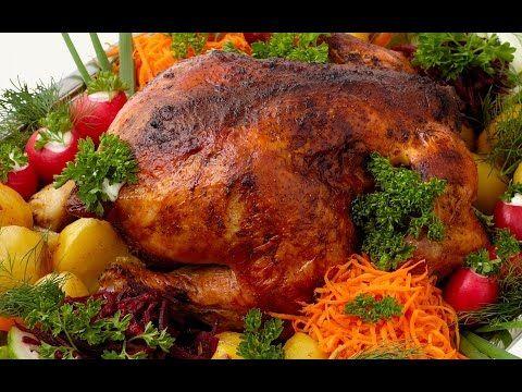 Фаршированная курица, необычный рецепт - YouTube