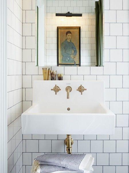 Bathroom - brass fixtures
