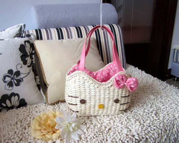 Hello Kitty Straw Bag Promotion-Online Shopping for Promotional ...
