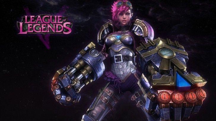 League of Legends Girl Champion Vi High Definition Image 1920×1080