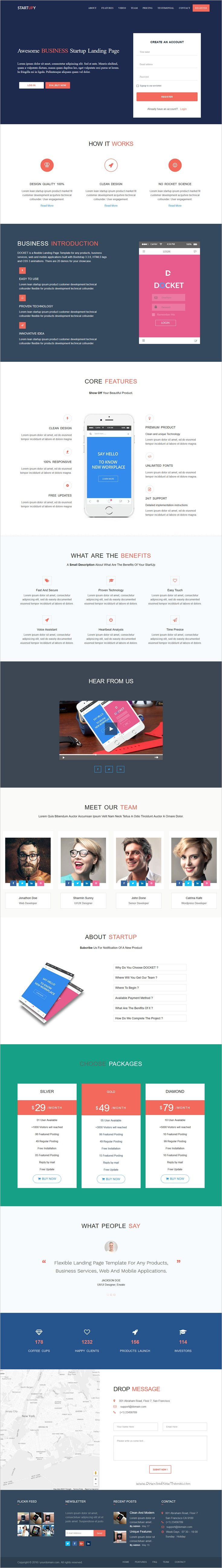 Startupy is clean and modern design responsive 10in1 #HTML5 Bootstrap #template for multipurpose #startups landing page website download now➩ https://themeforest.net/item/startupy-startup-landing-page/19082786?ref=Datasata