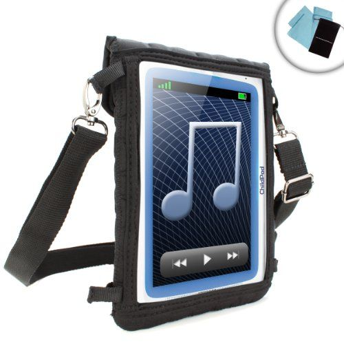 """Kids Tablet Case 7 Inch w/ Touch Screen Cover  Adjustable Carrying Strap & Neoprene Material by USA GEAR - Works w/ Dragon Touch Y88X 7""""  iRULU eXpro X1  RCA 7"""" Tablet RCT6077W22 Voyager & More"""