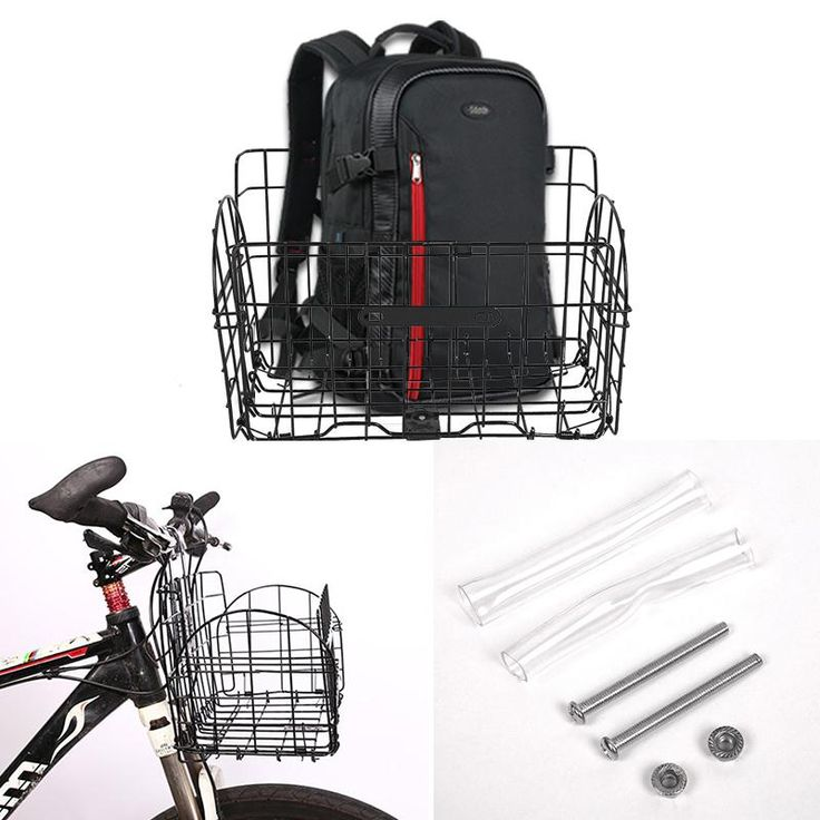 Outdoor Cycling Foldable Bike Handlebar Bar Rear Front Basket Iron Bag Holder ** AliExpress Affiliate's Pin.  Details on this product can be viewed by clicking the image