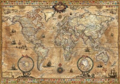 Antique World Map by Educa had been finished and it is the most personalized part of my office :)