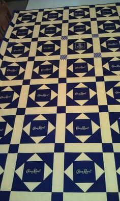 Crown Royal Quilt.  For my brother in law.