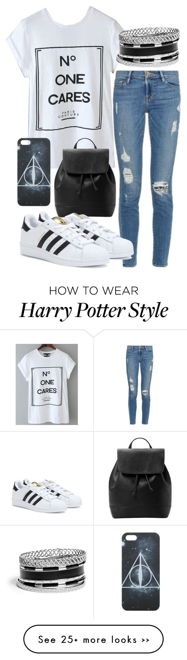 """""""Untitled #219"""" by newyorklust on Polyvore featuring Frame Denim, MANGO, adidas and GUESS"""
