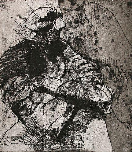 Artist: Jon Raleigh. Year: 2008. Description: soft ground intaglio etching with aqua tint