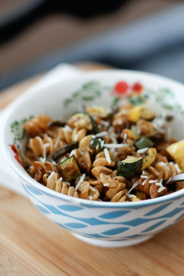 Roasted Vegetable Whole Wheat Pasta Salad | Aggies Kitchen