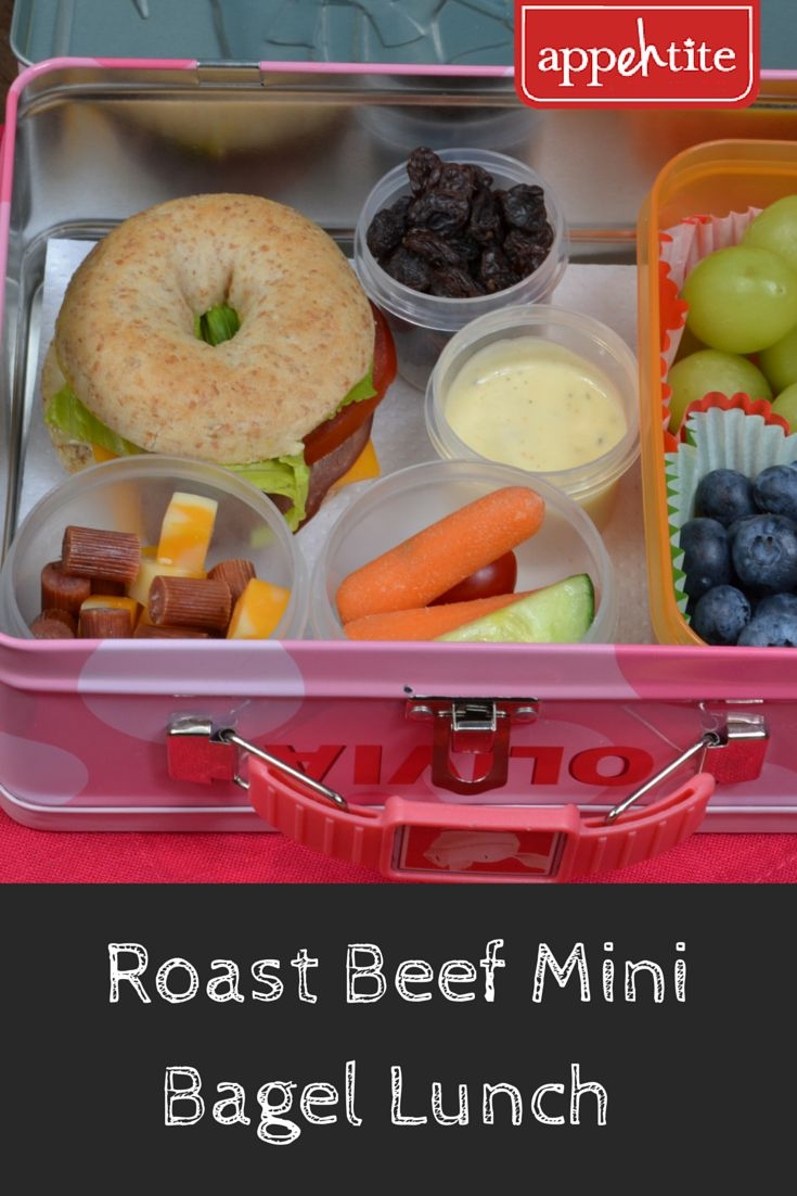 Packing a variety of items for lunch will keep kids interested when they go #BackToSchool and allows them to choose what they want to eat. Mini Bagels are much easier to eat and make #lunch fun! #appehtite