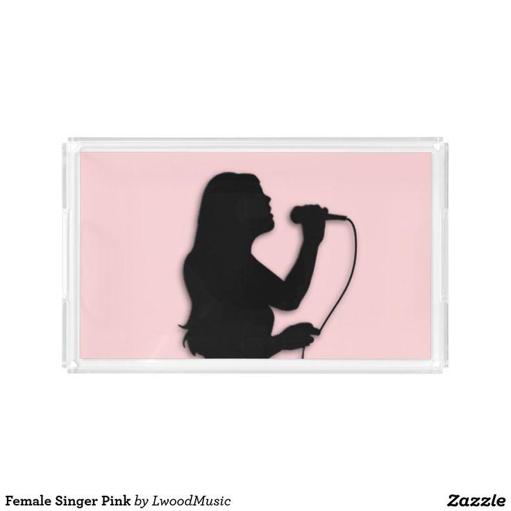 Female Singer Pink Serving Tray