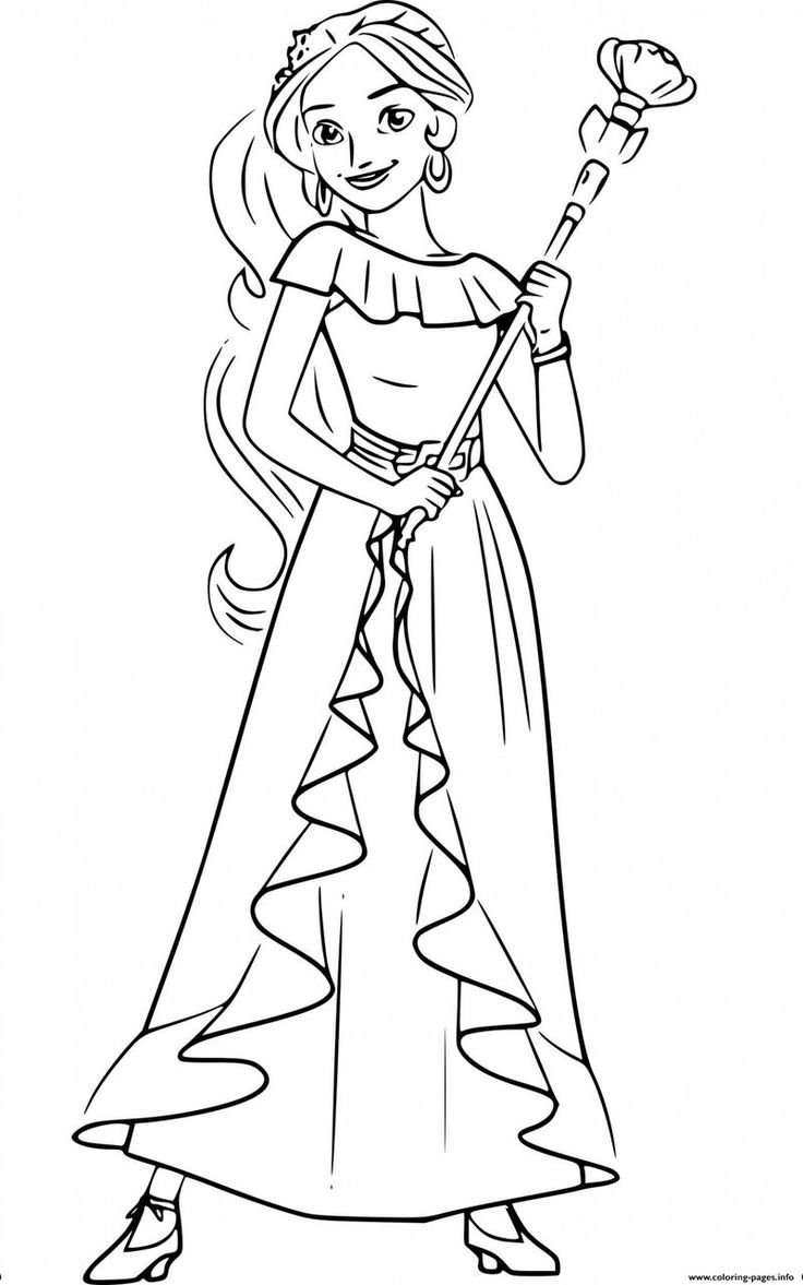Collection Of Elena Of Avalor Coloring Pages   Princess ...