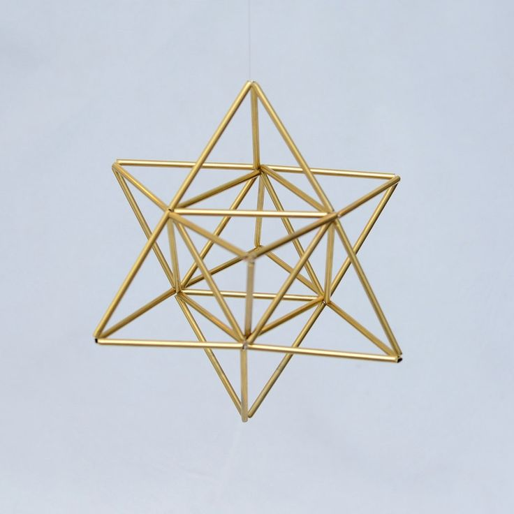 EGG OF LIFE, Merkaba, Tetrahedron Star of David 3 D Himmeli, Hanging Brass Home Decor