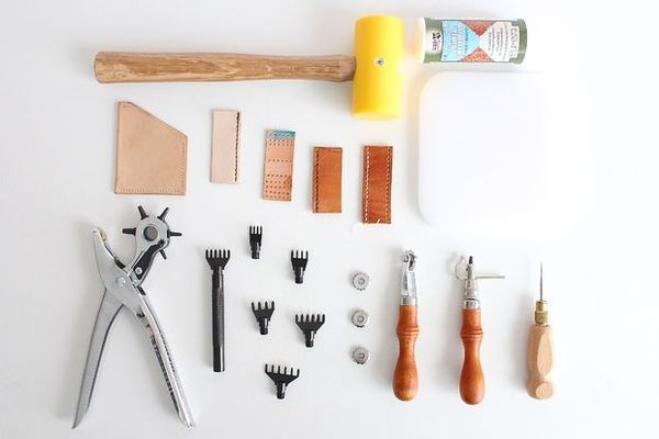 DIY Craft: A Beginner's Guide to Leatherworking   Man Made DIY   Crafts for Men   Keywords: sewing, fabric, wallet, leather