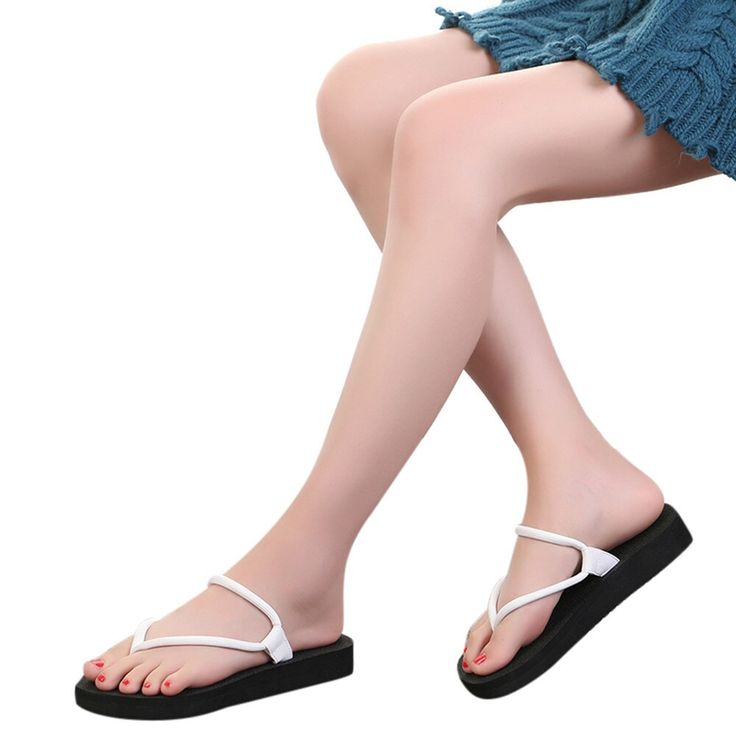 2018 summer fashion soft bottom leisure sandals flip flops women's outdoor beach slippers Fla…