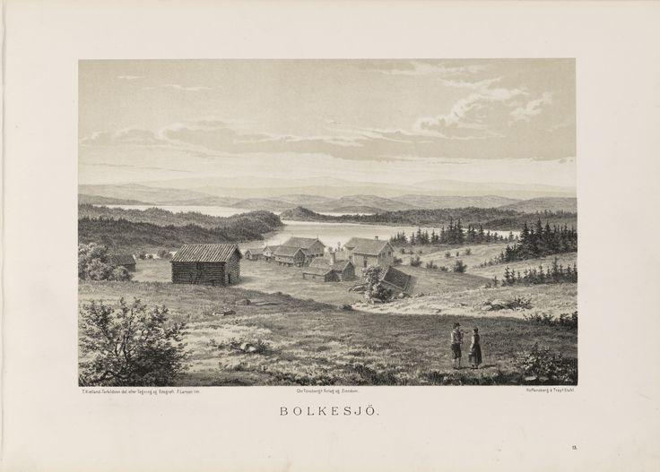Norge fremstillet i Tegninger - Ukjent - Bolkesjö. jpg (6088×4360)